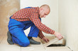 tiler at home floor tiling renovation work
