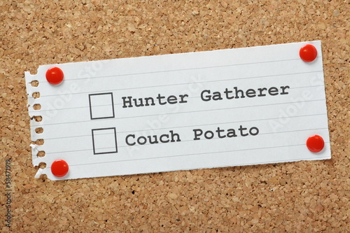 Hunter Gatherer or Couch Potato