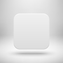 White Abstract Blank App Icon Template