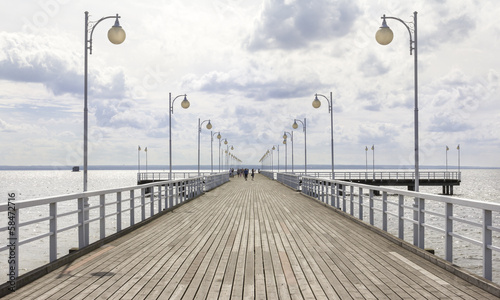 Jurata pier on the Hel peninsula, Baltic sea, Poland|58472716