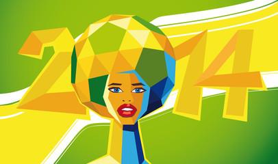 fussball poster brasilien 2014