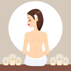 Spa Woman Relaxing Candles