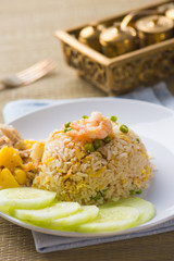 thai pinapple fried rice food