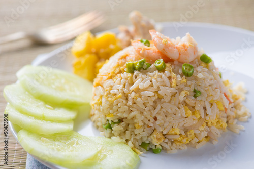 thai pinapple fried rice food