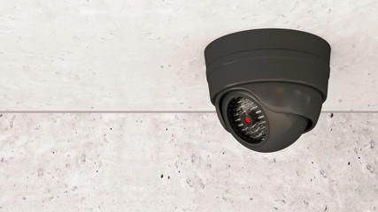 Animation of Modern Security Camera Rotation. Full HD Video Clip