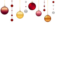 christmas background with colored ball