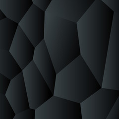 Background abstract black vector creative design. Cells pattern