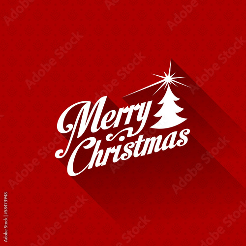 Merry Christmas greeting card vector design template