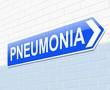 Pneumonia concept.