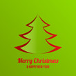 Merry Christmas New Year greeting card vector design