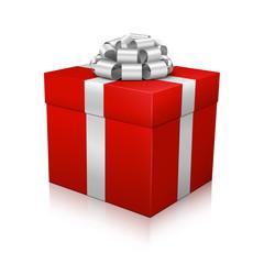 Geschenk, Geschenkpaket, Paket, verpackt, 3D, Rot, Edel, Box