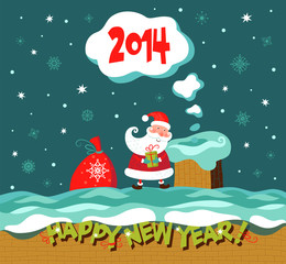 Greeting Christmas and New Year card.