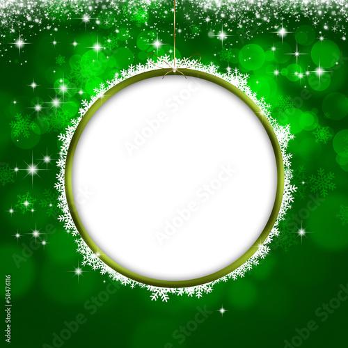 Holiday Green Xmas Greeting Card - 58476116