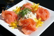 Smoked salmon with mixed salad