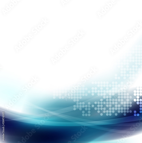 Abstract smooth blue wave and space for your text
