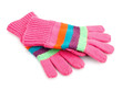 canvas print picture - striped gloves