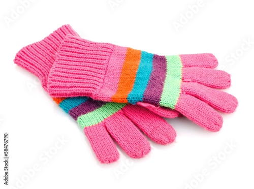 canvas print picture striped gloves