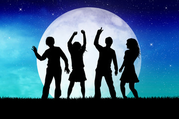 party in the moonlight