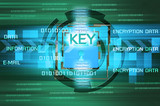 Background of security concept. Encryption information and data.