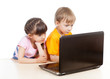 kids at the laptop