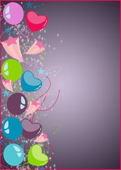 Happy new year or birthday party background