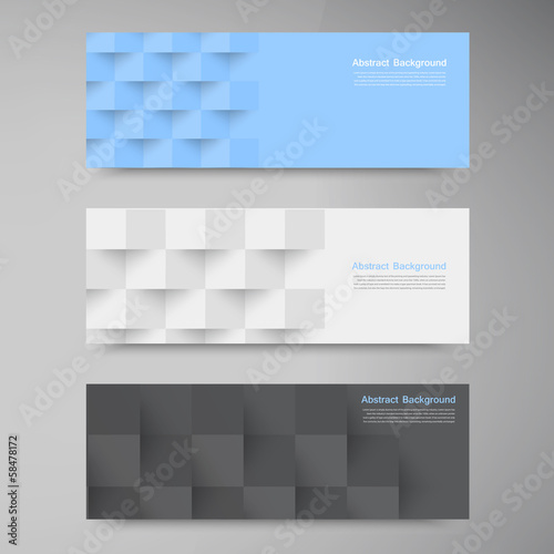 Vector banners and squares. Color set