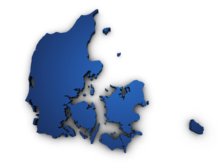 Map Of Denmark 3d Shape