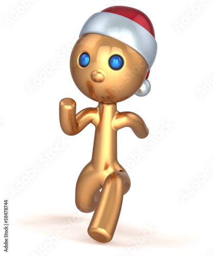 Running man character gold stylized quickly runner fast speed