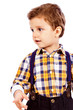 Portrait of an adorable little boy isolated