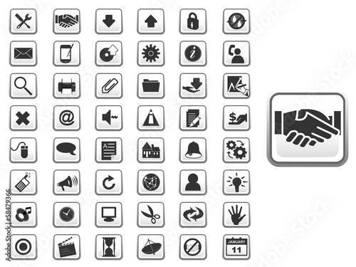 GUI icon set for web and app
