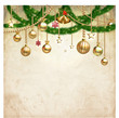 Vintage Christmas & decorate background, vector illustration