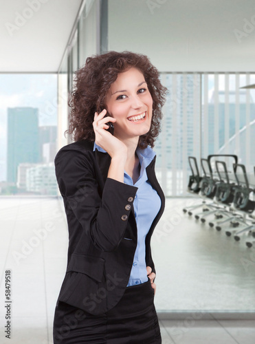 woman at cellphone