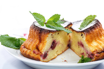 cheese muffins with berry filling
