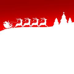 Christmas Sleigh Red