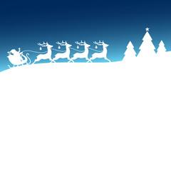 Christmas Sleigh Blue