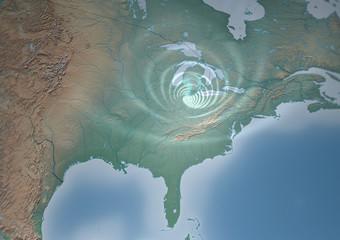 Tornado mappa Stati Uniti Illinois Mid-West