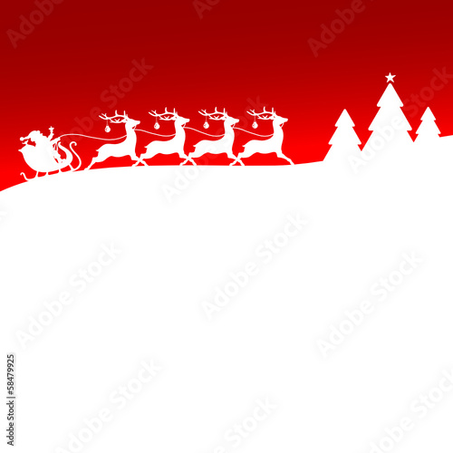 Christmas Sleigh Red