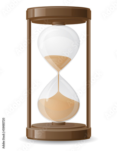 old retro hourglass vector illustration
