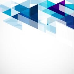 Modern blue geometrical template, vector illustration