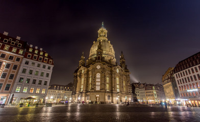 Frauenkirche in Dresden Germany at night