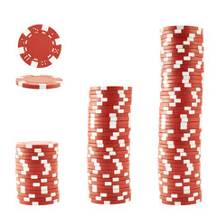 Three stacks of casino chips