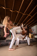Capoeira Performers Working Out