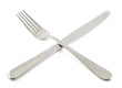Crossed fork and kitchen knife