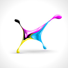 Vector splashing CMYK