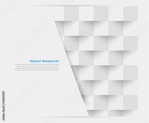 Vector white squares. Abstract backround - 58483197