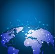 Global technology mesh network, vector illustration