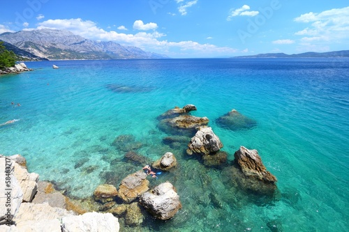 Croatia summer - coast in Marusici