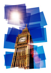 sunny big ben collage