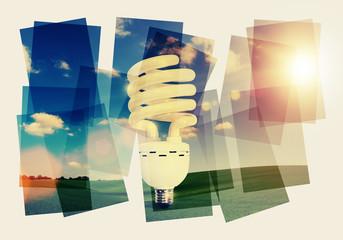 energy light bulb collage