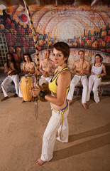 Capoeira Berimbau Musician with Friends